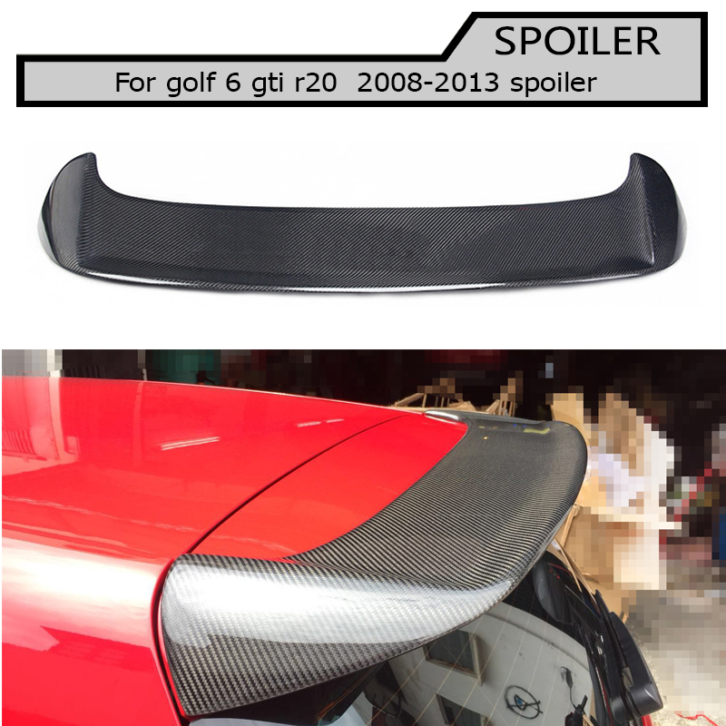 Гольф 6 MK6 углерода задний спойлер на крыше багажник для Volkswagen VW Гольф 6 gti r 2009 2013 O стиль не подходят для Гольф 6 стандартных