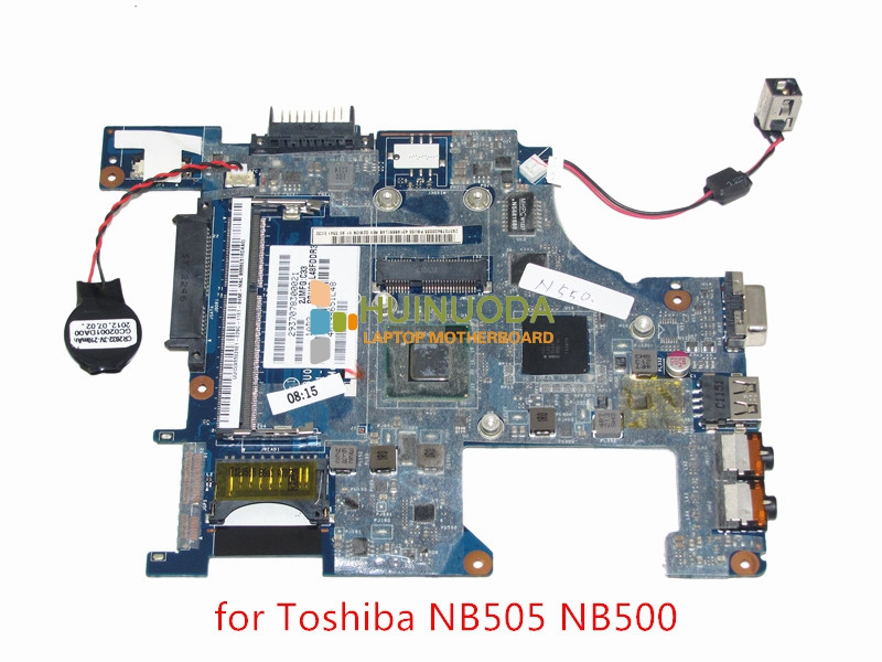PBU00 LA-6851P K000126210 Laptop Motherbord For toshiba satellite NB500 NB505 Intel N550 CPU onboard DDR3 Mainboard Brand nokotion sps v000198120 for toshiba satellite a500 a505 motherboard intel gm45 ddr2 6050a2323101 mb a01