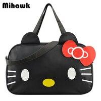 Cute Hello Kitty Handbag Girl S Women S Travel Messenger Bags Dual Use Organizer Shoulder Accessories