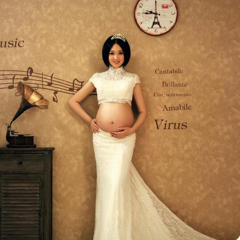 HOT Women Dresses maternity photography dress gown clothing maternity photography props maternity clothes long pregnancy dresses