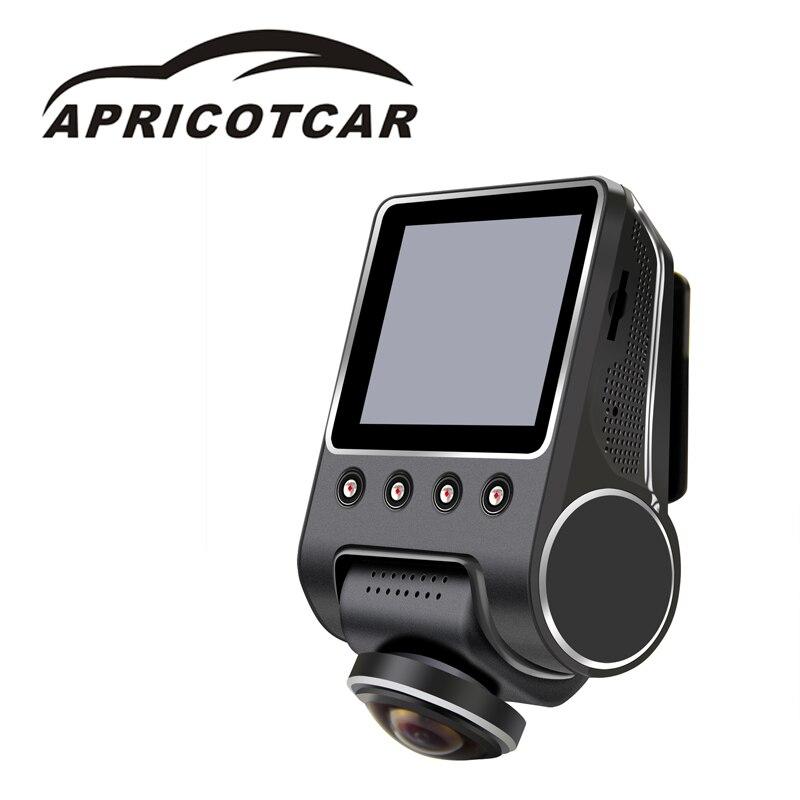 APRICOTCAR CAR HD DVR Panoramic Recorder Hidden car camera Night Vision Whole Car Parking Monitoring Video Recorder  dash cam