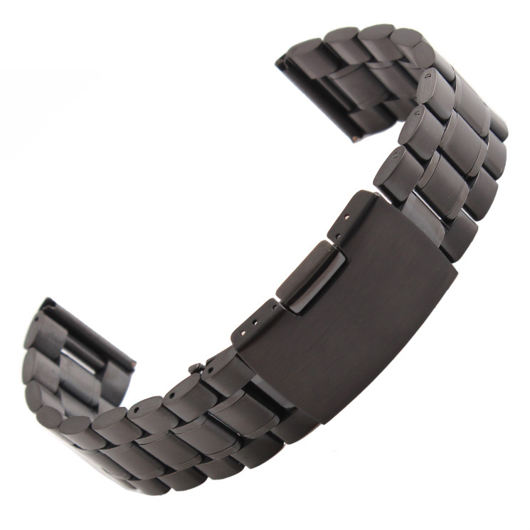 New Watch Band 14mm 16mm 18mm 20mm 22mm 24mm 26mm Black Stainless Steel Watch Band Strap Straight End Bracelet 20mm 22mm 24mm 26mm black stainless steel buckle for watch strap band free shipping
