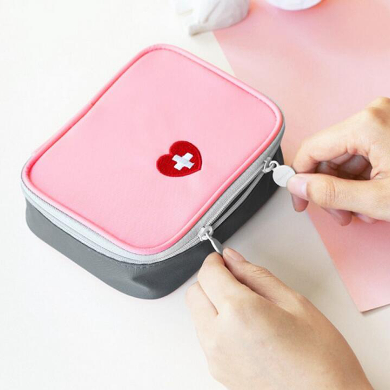 Cotton Travel Accessories Function Portable First Aid Kit Organizers Emergency Drug  Fabric Medicine Bag Pill Case Splitters Box