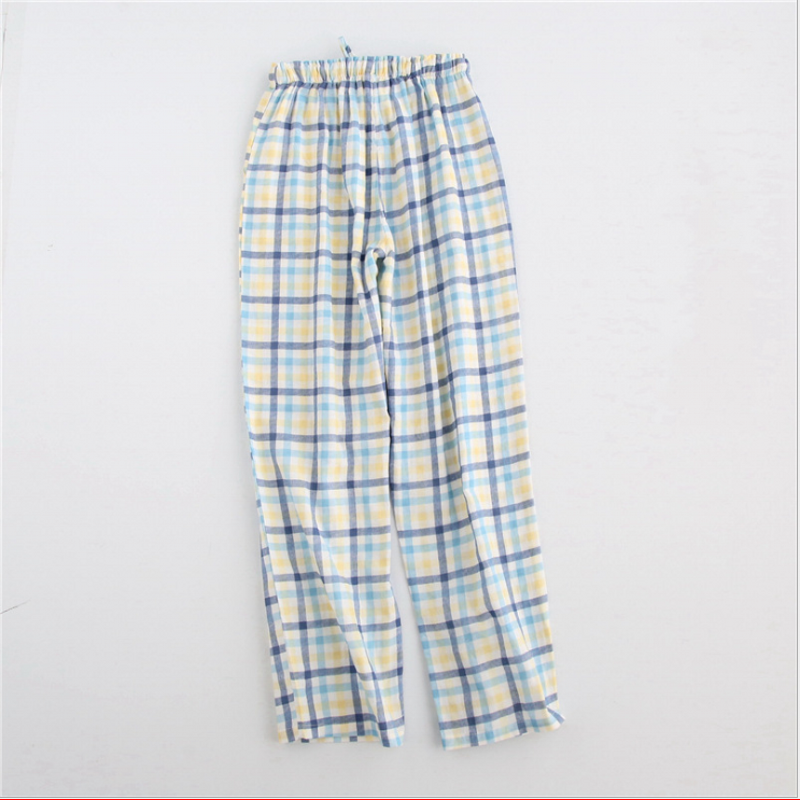 Spring Girls   Homewear Women Casual Plaid Sleepwear Bottom Ladies Long Length Nighty Pants Female  Cotton Trousers