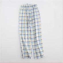 c452d589f6fb 2019 весна девушки бренд домашней одежды Для женщин Повседневное Пижама  клетчатая подошвой длинные пижамные брюки женские