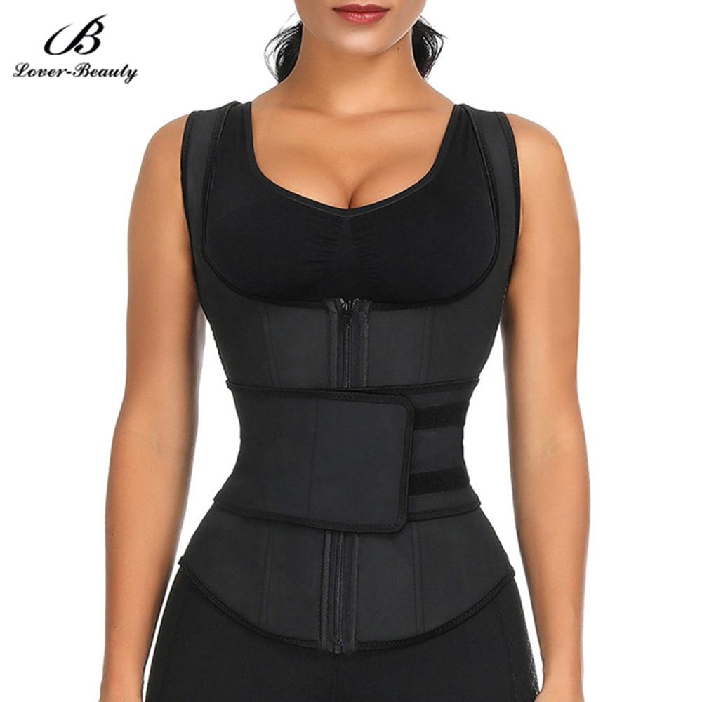 Lover beleza látex cintura trainer espartilhos emagrecimento cinto cintas para mulheres fajas reductoras cinta cintura abdominal cincher colete-e