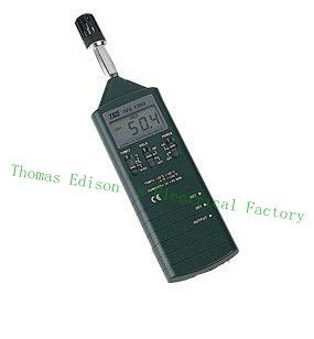 Original TES-1360A Humidity/Temperature Meter  Hygro-thermometer digital indoor air quality carbon dioxide meter temperature rh humidity twa stel display 99 points made in taiwan co2 monitor
