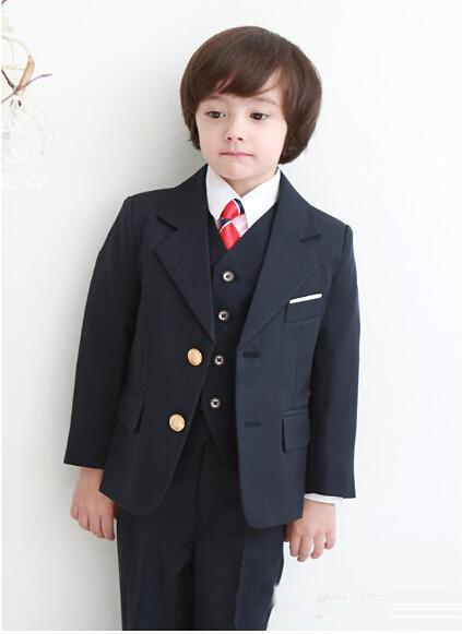 Boys Formal Wear Suits For Boy Notch Lapel Baby Kids Formal Occasion 2017 Wedding Party Children Tuxedos Boy Suits (Jacket+PantBoys Formal Wear Suits For Boy Notch Lapel Baby Kids Formal Occasion 2017 Wedding Party Children Tuxedos Boy Suits (Jacket+Pant