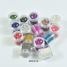 1 jar Glitter Caviar Nail Art Bead Rhinestone 0.6-0.8-1mm 15 Colors 3D Decors Crystal Ball Studs Decor,MGCZ-A