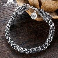 GAGAFEEL 4/5/6/8MM Men's Dragon Bracelet 925 Sterling Silver Bangles Bracelets Homme Silver Jewelry Men Male Birthday Gift