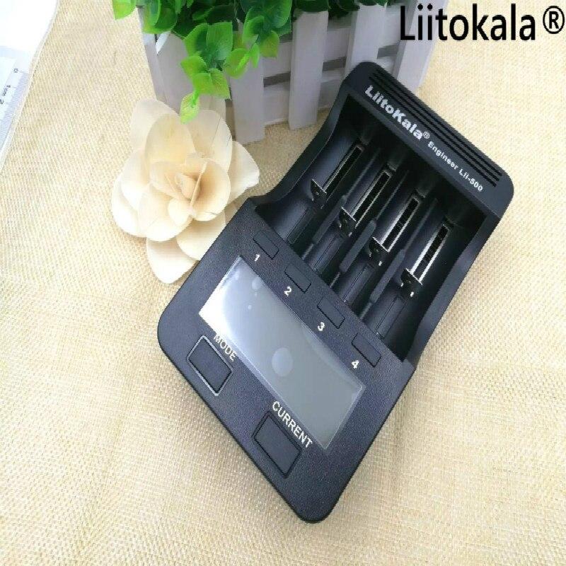 1,2 Liitokala lii 500 cargador LCD 18500 V 26650 18650 3,7 baterías cilíndricas de litio, 100% V AA AAA cargador de batería NiMH