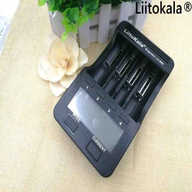 100% Liitokala ЛИИ 500 ЖК-дисплей Зарядное устройство 3,7 В 18650 26650 18500 цилиндрический литиевых батарей, 1,2 В AA AAA NiMH аккумулятор Зарядное устройство