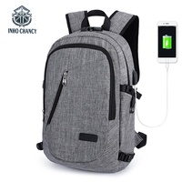 IHNO CHANCY  New Anti-theft Backpack 15.6-Inch Men's Laptop Bag Womens Backpack Multi-function USB Rechargeable Backpack