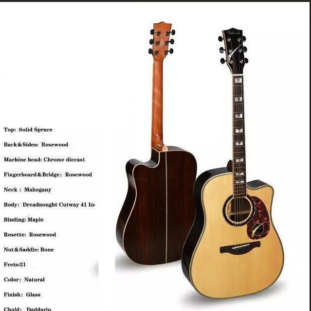 dreadnaught acoustic-electric perform guitar with square shell inlay fretboard fretboard markers inlay sticker decals for guitar caduceus symbol of medicine
