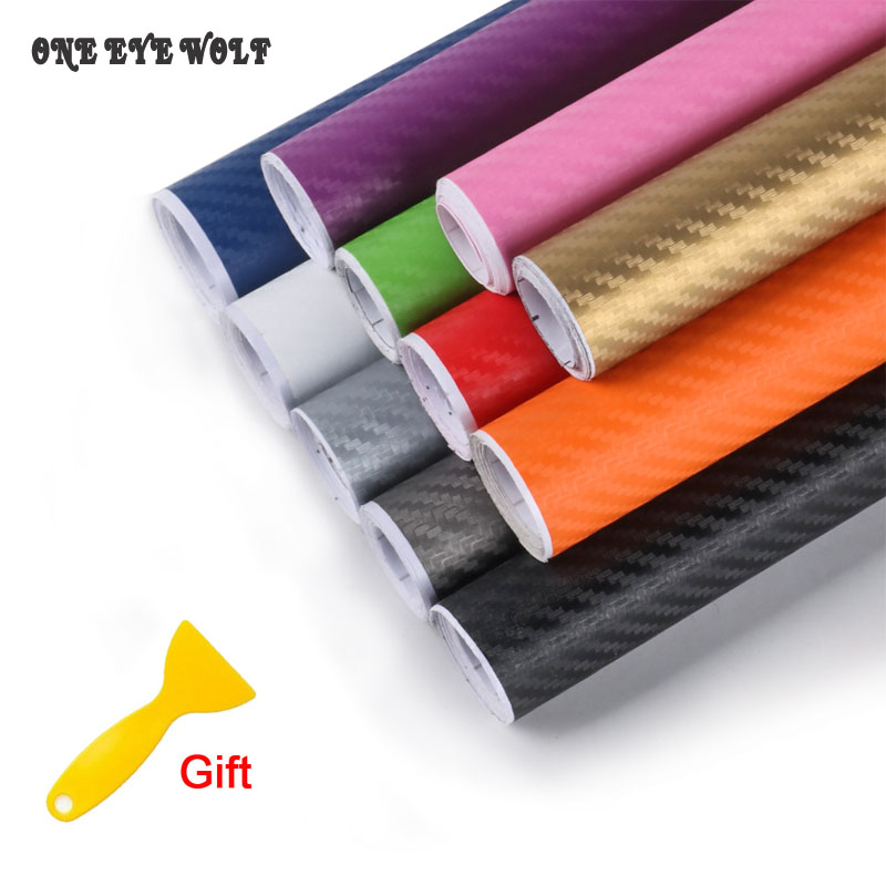 50*12 3D Carbon Fiber Sticker Auto Car Wrap Sheet Vinyl Film Car Stickers Decals Motorcycle Bicycle Laptop Styling Accessories maluokasa 127cmx30cm 3d auto carbon fiber vinyl film carbon car wrap sheet roll film paper motorcycle car stickers decal sticker