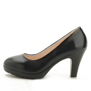 Image 2 - DRKANOL 2020 Spring Autumn Pointed Toe Women Pumps Classic Black Genuine Leather Shoes Women High Heels Ladies Office Shoes