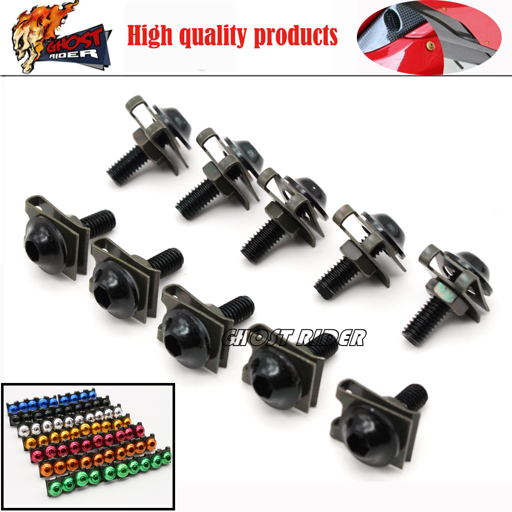 6mm Universal CNC Accessories Fairing body work Bolts Screws 5 pcs fits for yamaha YZF R125 R15 R25 r 125 15 25 mt-07 mt-09 mt 0