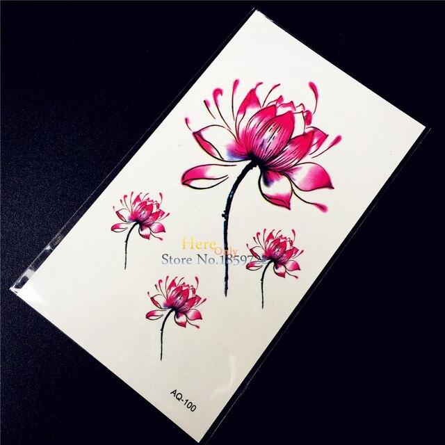 Kwiat Lotosu Ramienia Tatuaż Naklejki Tymczasowe Tatuaż Kobiety Body