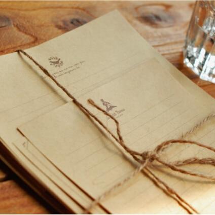 50 pcs of classic kraft letter writing setbrown v