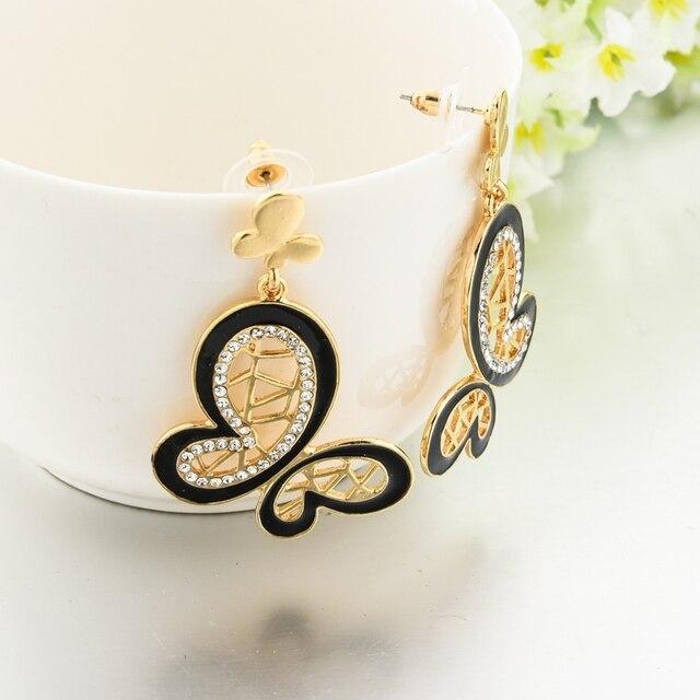 Chicvie 2017 новая мода этническое Золотое серьги в виде бабочек