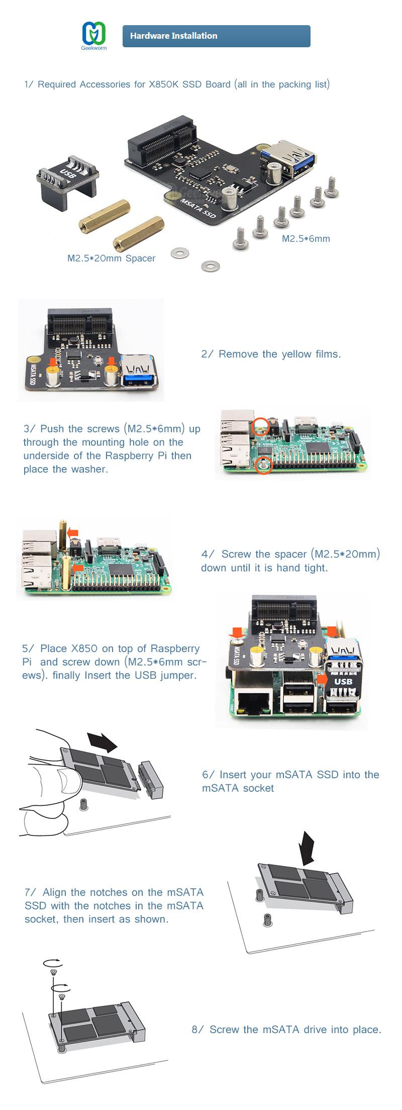 w850-Hardware installation