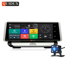 QUIDUX 8.0″ Car DVR 4G Android Full HD 1080P Video Camera GPS Navigator ADAS Wifi Bluetooth Camcorder Dashcam with Rear Camera