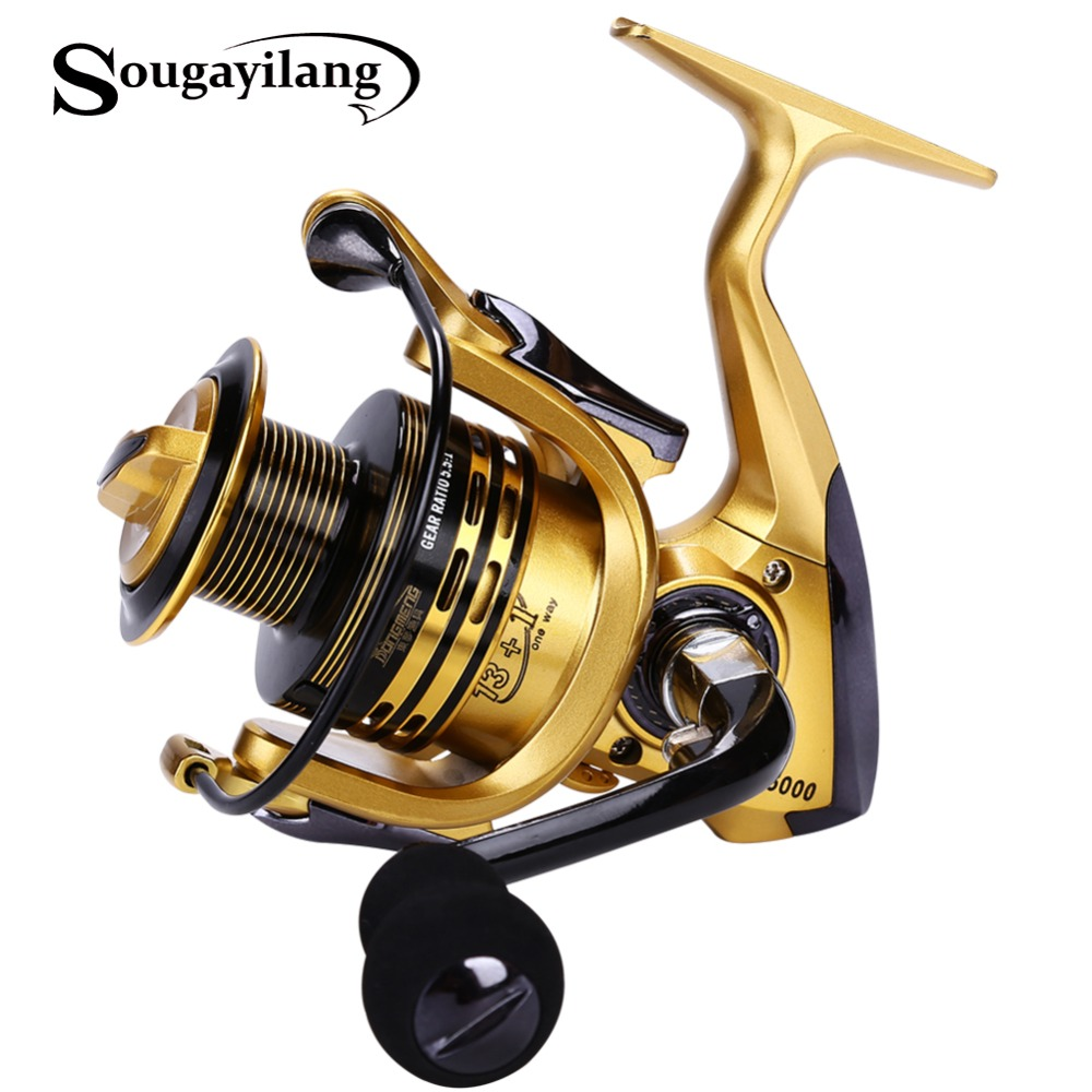Sougayilang 3colors choosen full metal material 13 1bb for Sougayilang spinning fishing reels