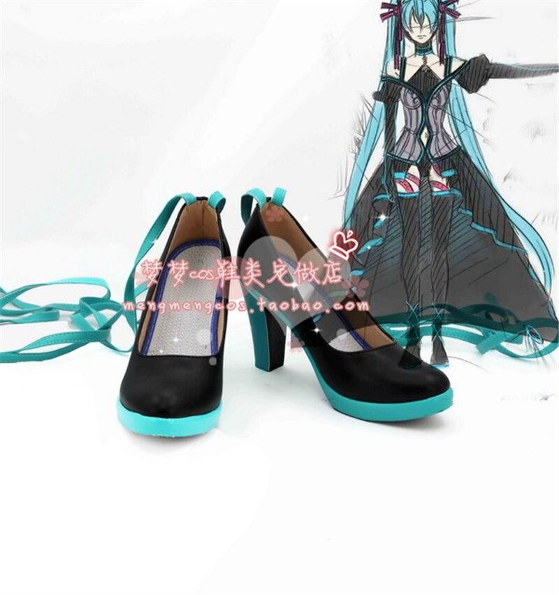 Hatsune Miku chaussures à talons hauts quotidien chaussures Cosplay livraison gratuite A