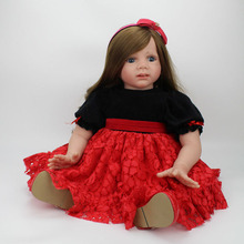 24 Inches Reborn Toddler Silicone Doll 60cm Realistic Collection Dolls for Babies Playmate Toys Accompany Sleeping Toys Juguetes