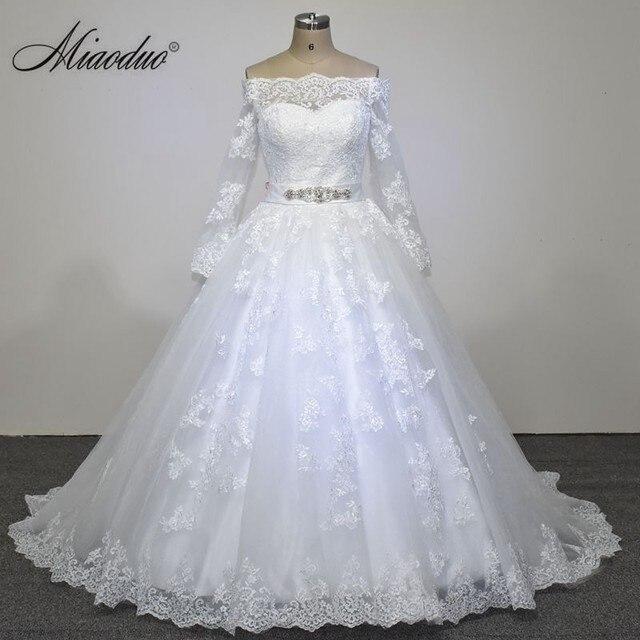 New Wedding Dress 2018 Long Sleeve Vestido De Noiva Elegant Ball Gown Plus Size Dresses