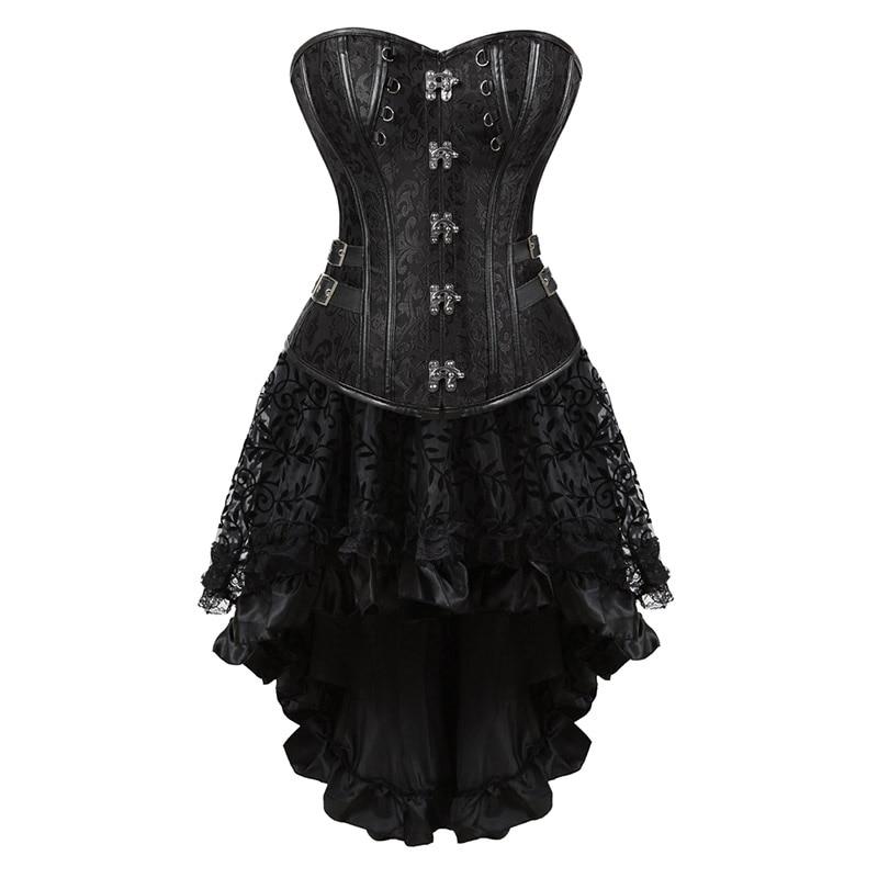 Women's Sexy   Corset   Korset Sexy Black Gothic Dress Hot   Bustier   Set Vestido   Corset   Ropa Mujer Talla Grande Plus Size 81107056