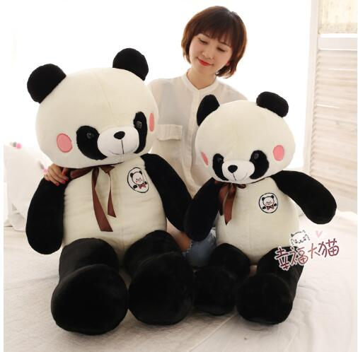 90cm Cute panda plush toy panda doll big size pillow birthday gift cartoon panda i love you dress style glasses panda large 70cm plush toy panda doll throw pillow proposal christmas gift x025