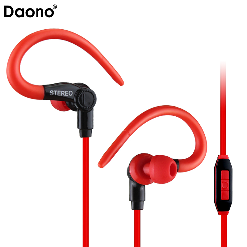 Daono Stereo Earphones Sport Running Headphones Super Music Headset 3.5mm With Mic for iPhone 5 6 Samsung Xiaomi phone MP3 MP4 fonge sport headphones earphones with mic running stereo bass music headset for all mobile phone