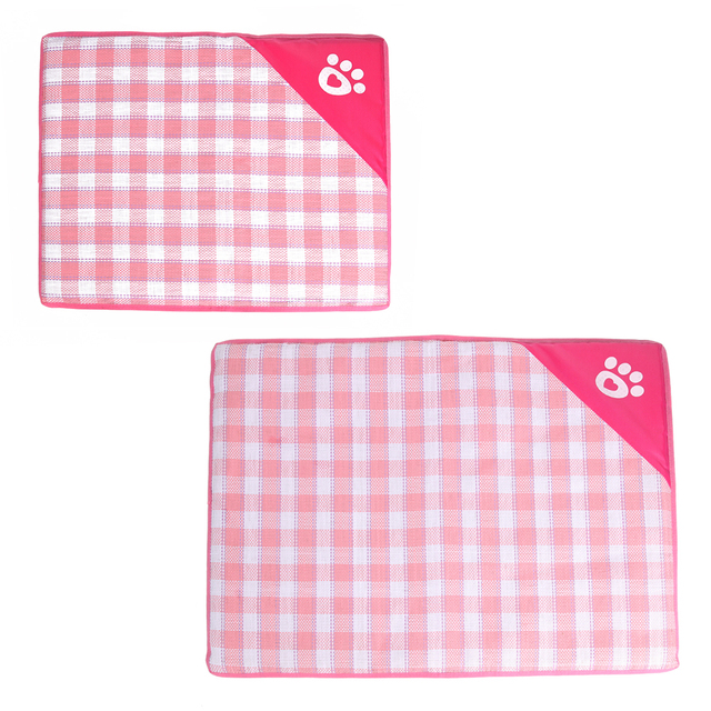 M/L Summer Dog Mat Removable Zipper Soft Cooling Mat for Small Dog Puppy Cats Portable Dog Kennel Bed Pet Supplies