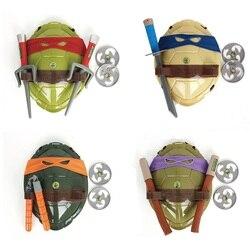 Новые черепахи игрушка в доспехах оружие черепахи оболочки дети подарки на день рождения прекрасные вечерние маски косплей маска подарки д...