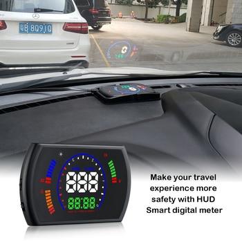 RMLKS S600 Car HUD Head Up Display Car Speed Projector Digital Speedometer OBD2 EUOBD Over-speed Warning System