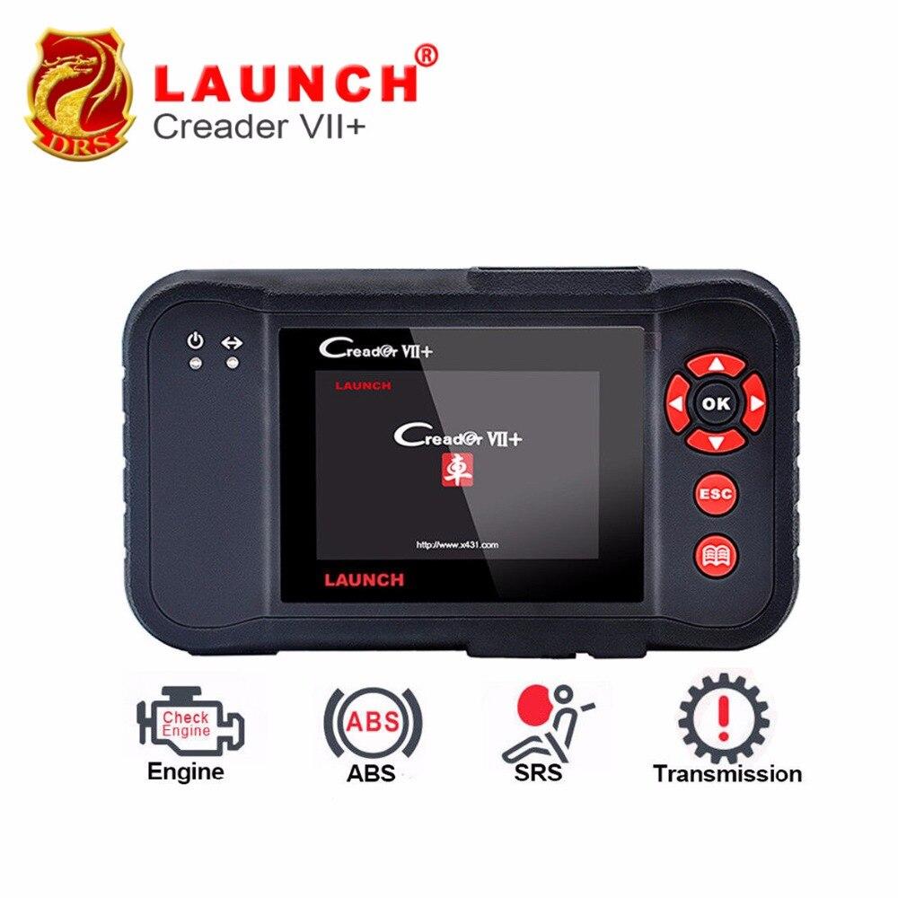 Последний Launch Creader VII+ Авто читальный инструмент кодов Launch X431 Creader VII Плюс Двигатель ABS SRS AT Авто сканер Creader 7+