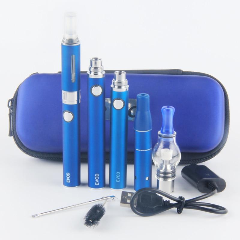 Electronic cigarette Evod MT3 3 in 1 e cigarette Vaporizer Dry herb Wax Liquid E Cig Kit Evod mt3 Atomizer Vape