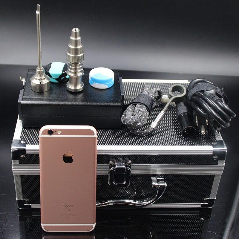 DHL boîte en aluminium gratuite emballage d-nail e-nail kit avec mise à niveau 6 en 1 titane clou Quartz clou Fit bobines de chauffage pour les plates-formes pétrolières tuyau