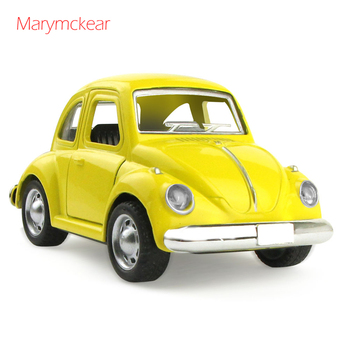 1 pcs Metal Car Toy Model Little Car Toys Die Cast Beetle Pull Back Function Vehicle Toy in Red 1:32 Alloy Car Kids Toy