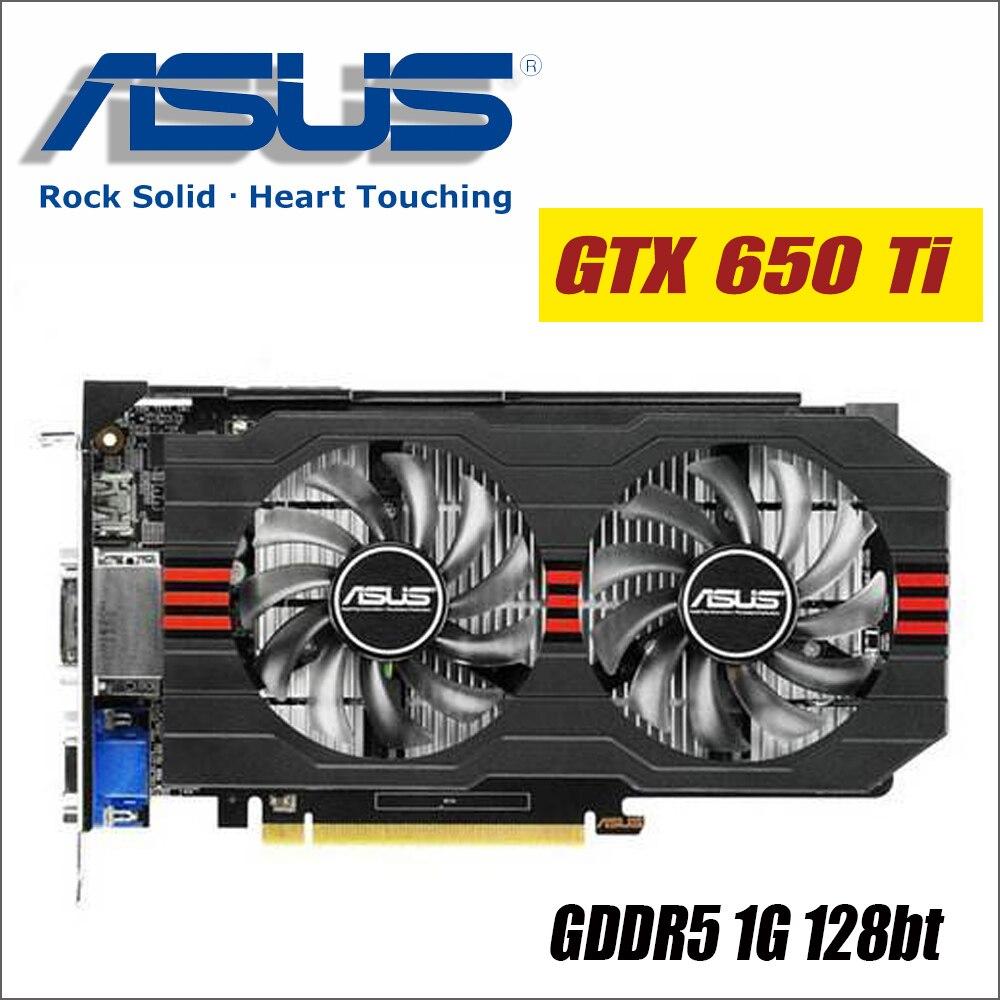 ASUS Графика карты используется оригинальный GTX 650 Ti GTX650Ti-DF-1GD5 1 ГБ 128Bit GDDR5 видео карты для nVIDIA Geforce GTX 650Ti VGA