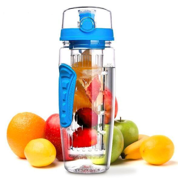 950ml Large Capacity Fruit Infuser Juice Shaker Bottle Tritan Sports Water Bottle Portable Space Camping Bottles BPA Free