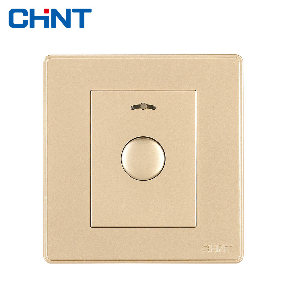 CHINT Electric Touch Switch Wall Switch Socket NEW2D Light Champagne Gold Button Delay Switch chint speed regulation switch new2d wall switch socket ceiling fan wall switch