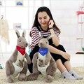 1pcs 35cm Austrian Kangaroo Plush Toy,Women Stuffed Animal Car Bedroom Toy,Doll For Children Gifts,Cotton Cartoon Kangaroo