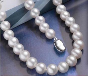 """HOT! Charming 9-10mm AAA White Pearl Necklace 18"""" 36"""""""