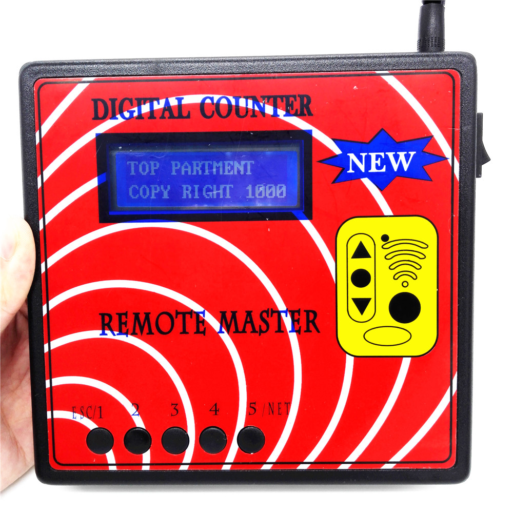 Newest 10 Generation DIGITAL COUNTER REMOTE MASTER Frequency Tester With Blue Screen Regenerate RF Remote Copier