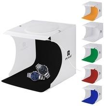 hot deal buy mini folding lightbox photography photo studio softbox portable led light room photo studio background kit light box for dslr
