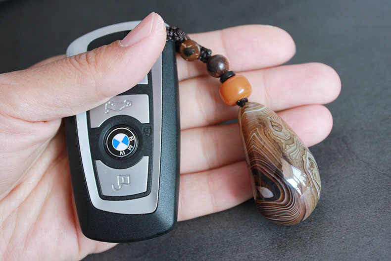 ห่อ agate พวงกุญแจเครื่องประดับทำด้วยมือหยก Ruyi ผู้ชายและผู้หญิงคู่ความคิดสร้างสรรค์ของขวัญรถ key จี้