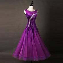 Ballroom Dance Dresses Adult 2017 Women Sleeve Elegant Dark Purple Standard Tango Waltz Ballroom Competition Costume Adult