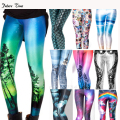 2017 New women skinny leggings,8 colors Sexy 3D Graphic Colourful Printed Women Legging sporting legging free shipping MH061